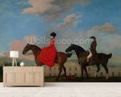 John and Sophia Musters riding at Colwick Hall, 1777 mural wallpaper living room preview