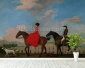 John and Sophia Musters riding at Colwick Hall, 1777 mural wallpaper in-room view
