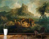 Leopards at Play, c.1763-8 wallpaper mural kitchen preview