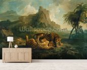 Leopards at Play, c.1763-8 wallpaper mural living room preview