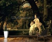 Lady reading in a Park, c.1768-70 wall mural kitchen preview