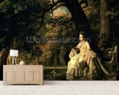 Lady reading in a Park, c.1768-70 wall mural living room preview