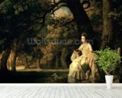 Lady reading in a Park, c.1768-70 wall mural in-room view