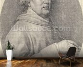 Study for a Self Portrait in Enamel, 1781 (graphite on wove paper) mural wallpaper kitchen preview