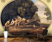Labourers, 1781 (enamel on Wedgwood biscuit earthenware) mural wallpaper kitchen preview