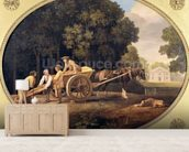 Labourers, 1781 (enamel on Wedgwood biscuit earthenware) mural wallpaper living room preview