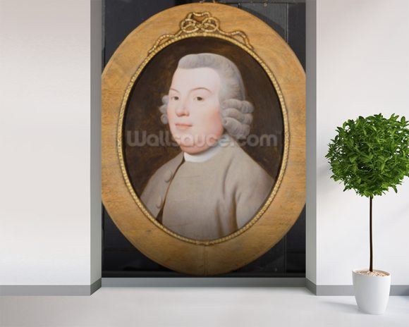 Mr. Hospey Walker, 1783 (enamel colours on Wedgwood plaque) mural wallpaper room setting
