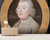 Mr. Hospey Walker, 1783 (enamel colours on Wedgwood plaque) mural wallpaper living room preview