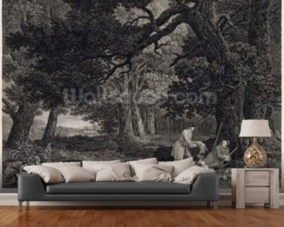 Shooting, plate 4 Wallpaper Mural Wall Murals Wallpaper