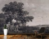 Shooting, plate 3, engraved by William Woollett (1735-85) 1770 (engraving with etching) mural wallpaper kitchen preview