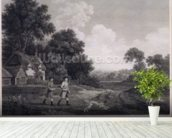 Shooting, plate 2, engraved by William Woollett (1735-85) 1770 (fifth state engraving and etching) wall mural in-room view