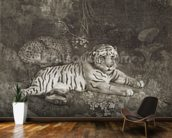 Two Tygers, engraved by the artist, pub. 1788 (etching) wallpaper mural kitchen preview