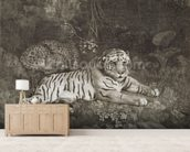 Two Tygers, engraved by the artist, pub. 1788 (etching) wallpaper mural living room preview