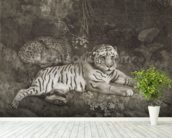 Two Tygers, engraved by the artist, pub. 1788 (etching) wallpaper mural in-room view
