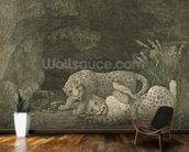 Tygers at Play, engraved by the artist, pub. 1789 (etching) mural wallpaper kitchen preview