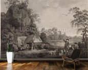 Shooting, plate 1, engraved by William Woollett (1735-85) 1769 (fifth state engraving and etching) mural wallpaper kitchen preview