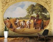 Reapers, 1795 (enamel on Wedgwood biscuit earthenware) wall mural kitchen preview