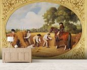 Reapers, 1795 (enamel on Wedgwood biscuit earthenware) wall mural living room preview