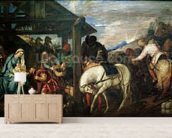 The Adoration of the Magi, c.1561 (oil on canvas) wallpaper mural living room preview