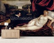 Venus and the Organist, c.1540-50 (oil on canvas) wall mural living room preview
