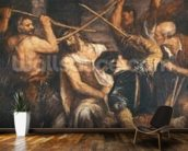 Christ Crowned with Thorns (oil on canvas) wall mural kitchen preview