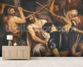 Christ Crowned with Thorns (oil on canvas) wall mural living room preview