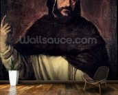 St. Dominic (1170-1221) (oil on canvas) wallpaper mural kitchen preview