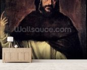 St. Dominic (1170-1221) (oil on canvas) wallpaper mural living room preview