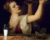 Salome Carrying the Head of St. John the Baptist, c.1549 (oil on canvas) wallpaper mural kitchen preview