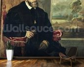 Seated Portrait of Emperor Charles V, 1548 (oil on canvas) wallpaper mural kitchen preview