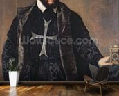 Portrait of a Knight of the Order of Malta (oil on canvas) mural wallpaper kitchen preview
