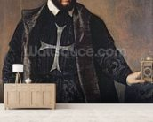 Portrait of a Knight of the Order of Malta (oil on canvas) mural wallpaper living room preview