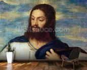 The Saviour, c.1553 (oil on canvas) wallpaper mural kitchen preview
