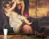 Virgin with Child at Sunset, 1560 (oil on canvas) mural wallpaper kitchen preview