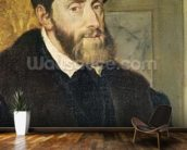 Detail of Seated Portrait of Emperor Charles V (1488-1576) 1548 (oil on canvas) (see 158620) wall mural kitchen preview