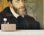 Detail of Seated Portrait of Emperor Charles V (1488-1576) 1548 (oil on canvas) (see 158620) wall mural living room preview