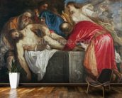 The Entombment of Christ, 1559 (oil on canvas) mural wallpaper kitchen preview