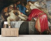 The Entombment of Christ, 1559 (oil on canvas) mural wallpaper living room preview