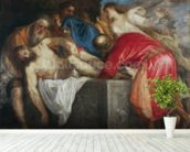 The Entombment of Christ, 1559 (oil on canvas) mural wallpaper in-room view