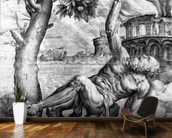 Tantalus, engraved by Giulio Sanuto, c.1550s (engraving) wall mural kitchen preview