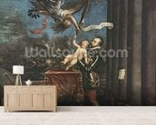 Allegory of the Battle of Lepanto, 1573-1575 (oil on canvas) wallpaper mural living room preview