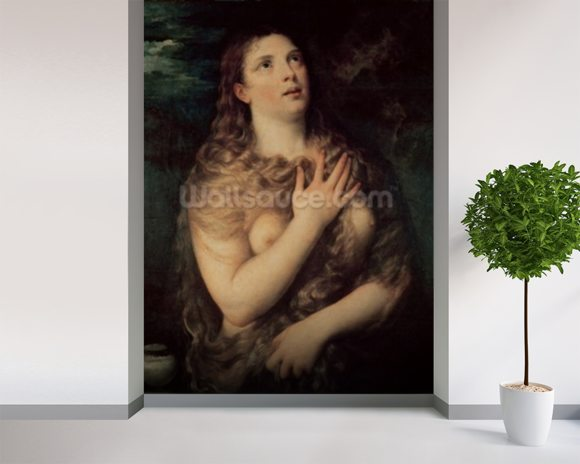 Mary Magdalene (oil on canvas) wall mural room setting