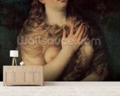 Mary Magdalene (oil on canvas) wall mural living room preview
