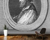 Portrait of Ludovico Ariosto (engraving) (b/w photo) mural wallpaper kitchen preview