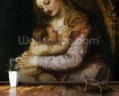 The Virgin and Child, c.1570-76 (oil on canvas) wall mural kitchen preview