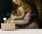 The Virgin and Child, c.1570-76 (oil on canvas) wall mural living room preview