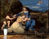 The Virgin and Child with Saints, 1532 (oil on canvas) wallpaper mural kitchen preview