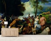 The Andrians, c.1523-4 (oil on canvas) mural wallpaper living room preview
