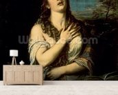Mary Magdalene, c.1561 (oil on canvas) wallpaper mural living room preview