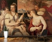 The Education of Cupid, c.1565 (oil on canvas) mural wallpaper kitchen preview